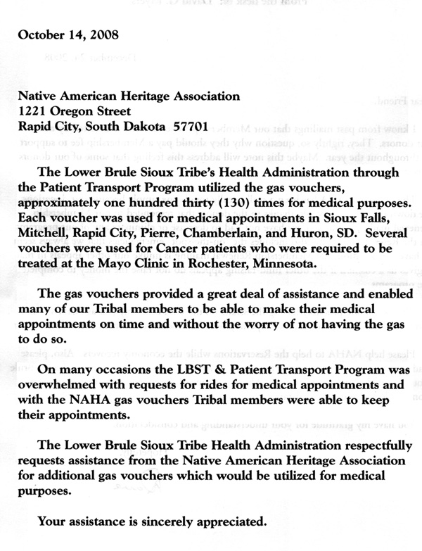 Lower Brule Sioux Tribe's Health Administration